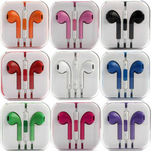 New Headphones Earphones With Remote & Mic For Apple iPhone