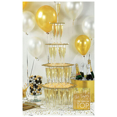 NEW YEAR'S EVE GLITTER CHAMPAGNE TOWER KIT ~ Birthday Party Supplies Celebrate](New Years Eve Party Kit)