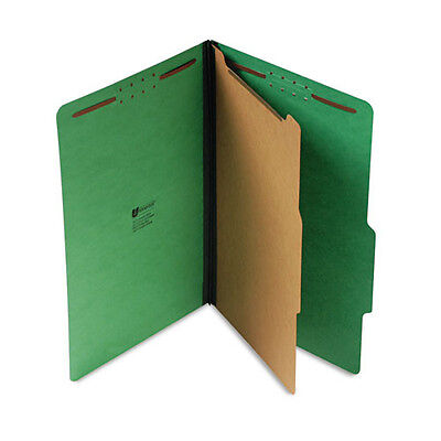 Universal 10212 Pressboard Folder, Legal, 4-Section, Emerald Green, 10 / Box