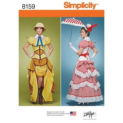 SIMPLICITY PATTERN 8159 STEAMPUNK COSPLAY/COSTUMES MISS SIZES 6-14 NEW UNCUT