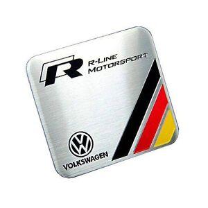 Metal R-LINE MOTORSPORT Germany Flag Badge Emblem for Volkswagen VW Golf Passat
