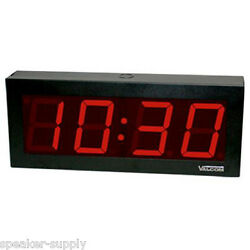 VALCOM IP PoE 4 Digit 4 Large Digital Clock Display Office Wall RJ-45 VIP-D440
