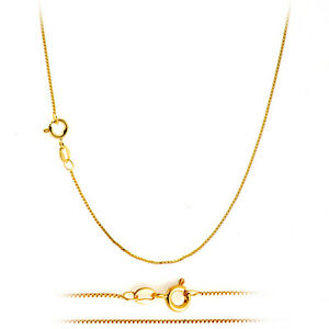 18K-Gold-Plated-Classic-Italian-Thin-Box-Chain-Necklace-for-Pendants-ALL-SIZES