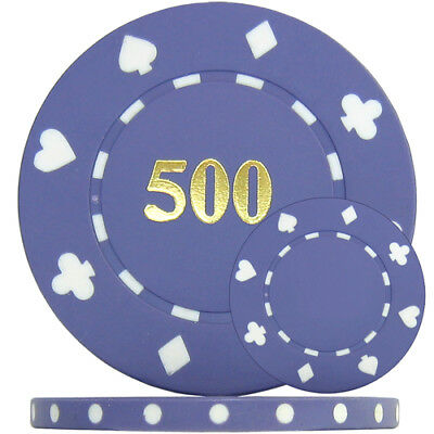 11.5g ABS 25mm Label Recess 500 x Blank GREEN Triple Aces Custom Poker Chips