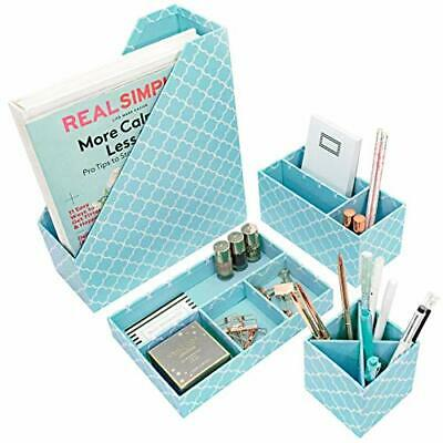 Office Desk Organizer Set - File Tray Pen Case Letter Sorter Magazine Holder