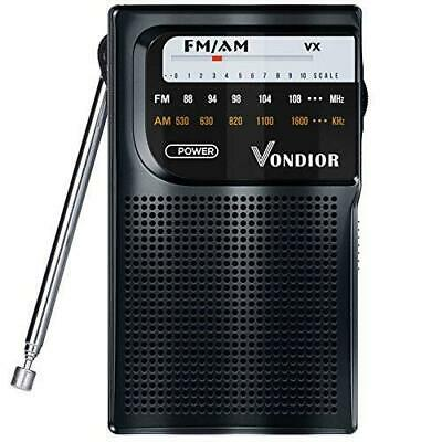 AM FM Radio Portable – Best Reception Transistor Radio/Longest Lasting Black