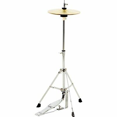 Small Hi Hat Stand & Cymbal Combo for Kids Junior Sized Drum Set & Practice Kit (Child Size Hat Stand)