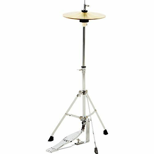 Small Hi Hat Stand & Cymbal Combo for Kids Junior Sized Drum Set & Practice Kit