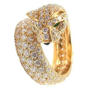 carat and a ring gold cartier peridot jaguar in onyx panther