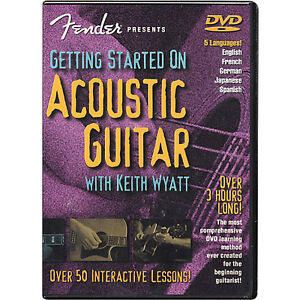 Fender Getting Started on Acoustic Guitar 50 Lessons DVD London Ontario image 1