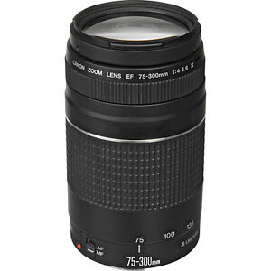 NEW Canon EF 75-300mm F/4.0-5.6 III Lens for SLRs T3i T4i T3 60D