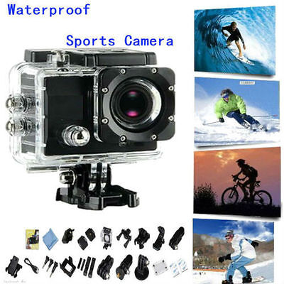 New Black Full HD SJ4000 12MP HD 1080P Sports DV Action Waterproof Camera US