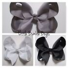 Silver Bow Hair Accessories for Girls