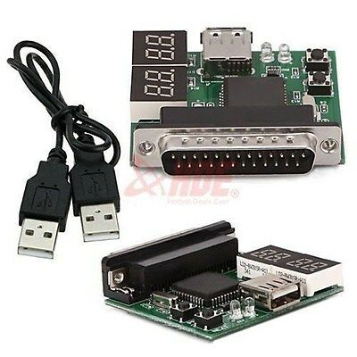 4-Digit Post Test Card Diagnostic PC Motherboard Analyzer Tester USB 2.0 Cable