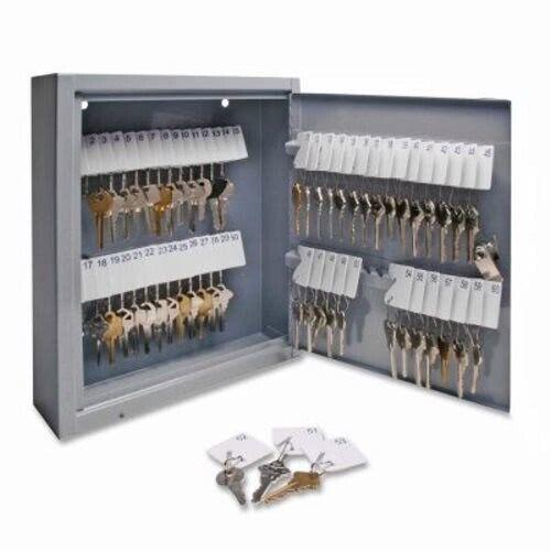 """Sparco Secure Key Cabinet, Key Lock, 10""""x3""""x12"""", 60 Keys, GY (SPR15602)"""