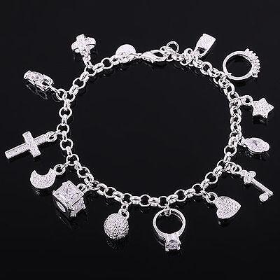 Modeschmuck Charm Silberarmband für Weihnachten S925 Plated KETTENLAUF