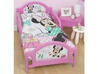 New Minnie mouse toddler girls kids junior bed with mattres