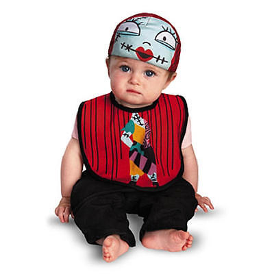 SALLY NIGHTMARE BEFORE CHRISTMAS BABY COSTUME 0-12M Drool Over Me Disney Bib Hat