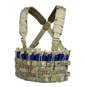CONDOR-MOLLE-Modular-Nylon-Rapid-Assault-Chest-Rig-mcr6-CRYE-MULTICAM-CAMO
