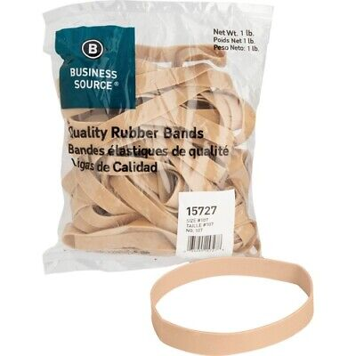 Business Source Quality Rubber Bands - Size 107 - 7 Length X 0.6 Width -