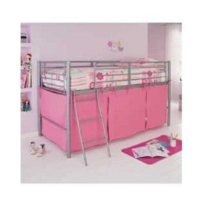 Pink Tent For Mid Sleeper Bed Girls Bedroom Toys Games Storage - New