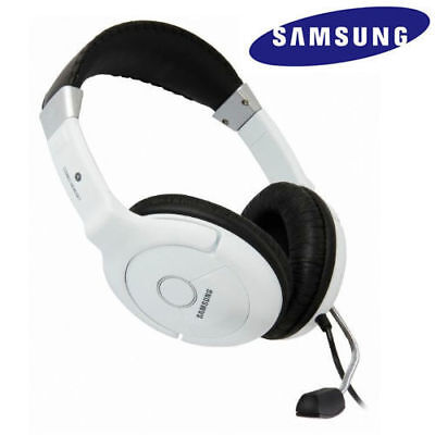 SAMSUNG Premium HiFi Stereo HEADSET HEADPHONES With MIC noise cancelling -White