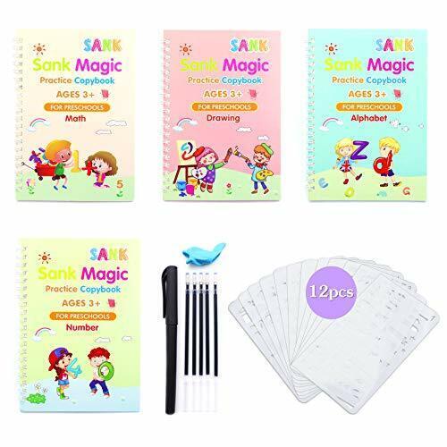 22Pcs Sank Magic Practice Copybook Set Reusable English Calligraphy Book kids