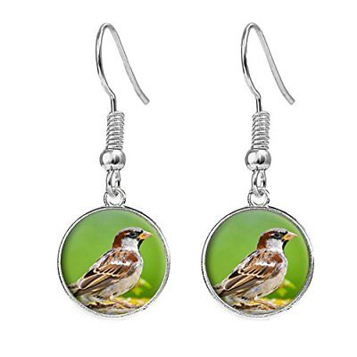 Sparrow Bird Silver Plated Costume Jewellery Drop Earrings Birthday Gift C128](Sparrow Costume Bird)