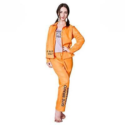 Orange Prisoner Convict Ladies Fancy Dress Costume (Womens Orange Convict Costume)