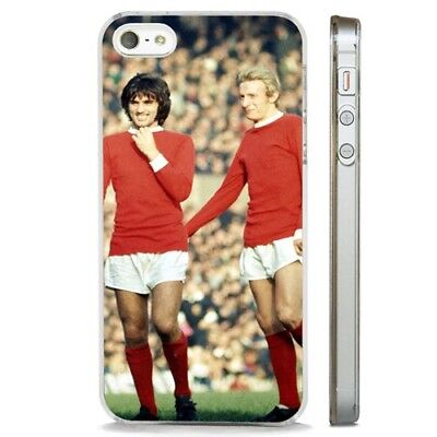 George Best Dennis Law Man U CLEAR PHONE CASE COVER fits iPHONE 5 6 7 8