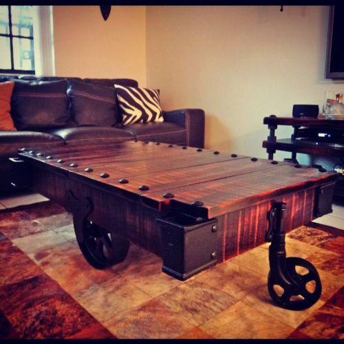 Industrial Coffee Table Restoration Hardware