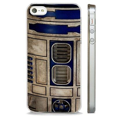 R2D2 Star Wars Movie CLEAR PHONE CASE COVER fits iPHONE 5 6 7 8 X