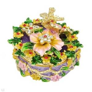 "BRAND NEW "" FLORAL DELIGHT "" JEWELERY CONTAINER"