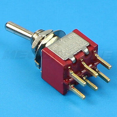 Dpdt Mini Toggle Switch On-off-on Pcb-mount Premium Quality... Usa Stock