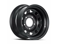 "Land Rover Defender Steel Wheels 16"" set of 4 1984 Satin Black"