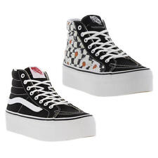 Vans Sk8 Hi Platform Womens Platform Hi Top Trainers Black White Size UK 3-8