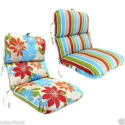 1756 reversible chair striped blue outdoor cushion