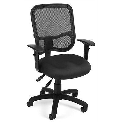 OFM Comfort Series Ergonomic Mesh Task Chair with Arms - ComfySeat™, Black Ofm Ergonomic Task Chair