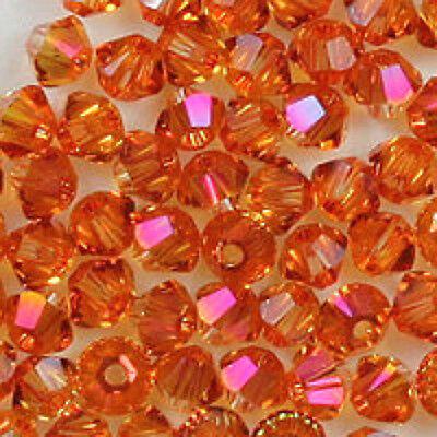 6mm Crystal Astral Pink 5328 Swarovski Bicone Xilion Crystal Beads, 72 w (Pink Swarovski Bicone)