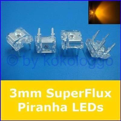 50 SuperFlux LEDs WEISS 80° PIRANHA 5mm LED 12V Flux