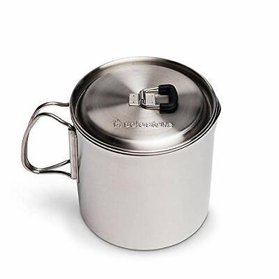 Backpacking Portable Pot Lightweight Stainless Steel Boil Water Quickly Spout