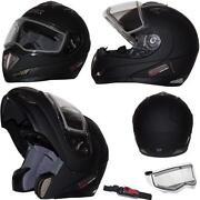 Snowmobile Helmet Modular Electric