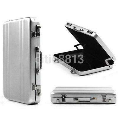 1pc Durable Aluminum Metal Briefcase Suitcase Business Name Card Case Holder Us
