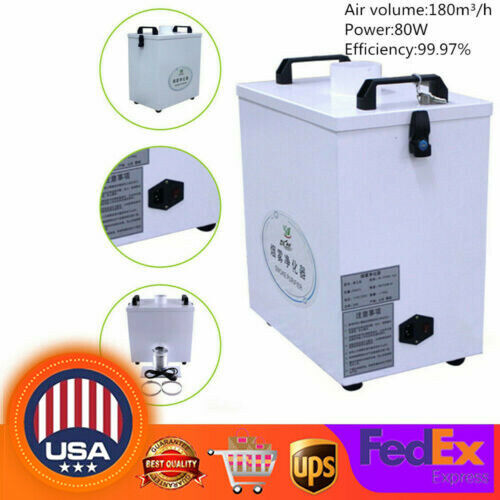 Pure Air Fume Extractor Smoke Purifier CNC Laser Engraving Cutting Machine 80W