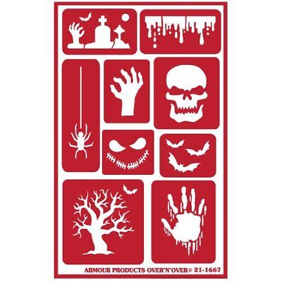 Armour Reusable Over n Over Glass Etching Stencil - ONO Halloween