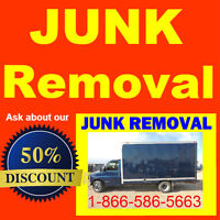 We chop the price down on: junk / waste removal.