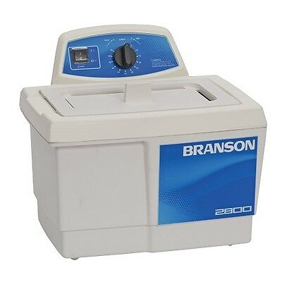 Branson M2800h 0.75g Ultrasonic Cleaner W Mechanical Timer Heater Cpx-952-217r