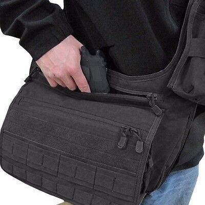 Condor 146 BLACK Messenger Bag Range Concealed Carry Pistol Mag Satchel MOLLE