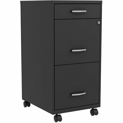 Lorell Three-drawer File Organize Cabinet 14-14w X 26-12h Black Llr00060