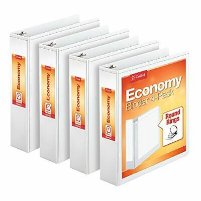 Cardinal Economy 3 Ring Binder 2 Inch Presentation View White Holds 475
